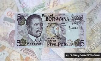Botswanan Pula - BWP money images
