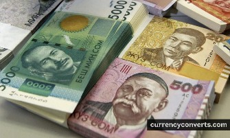 Kyrgyzstani Som KGS currency banknote image 2