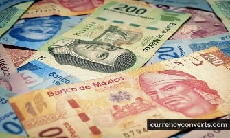 Mexican Peso MXN currency banknote image 1