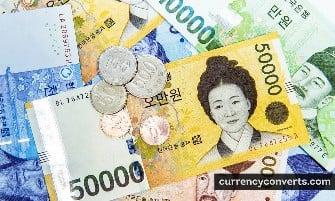 South Korean Won KRW currency banknote image 1
