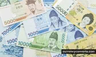 South Korean Won KRW currency banknote image 2