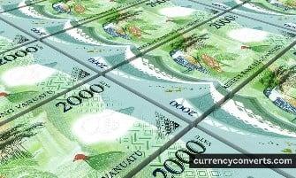 Vanuatu Vatu - VUV money images