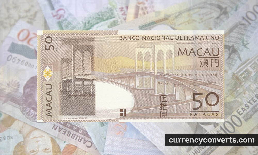 Macanese Pataca MOP currency banknote image