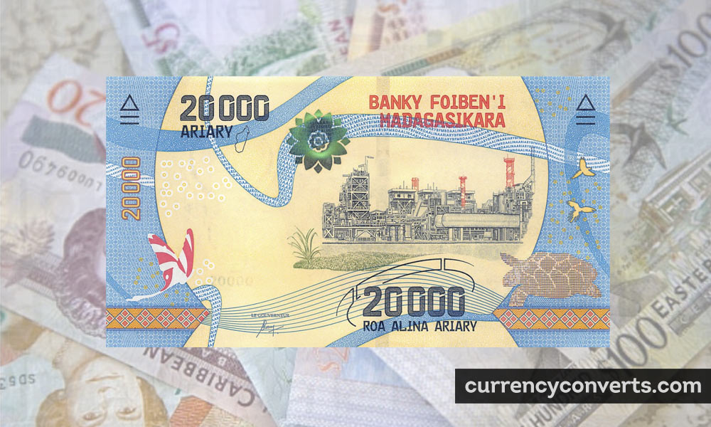 Malagasy Ariary MGA currency banknote image