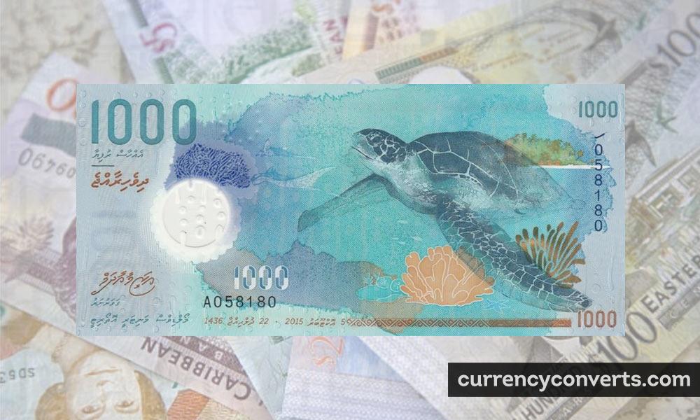Maldivian Rufiyaa MVR currency banknote image