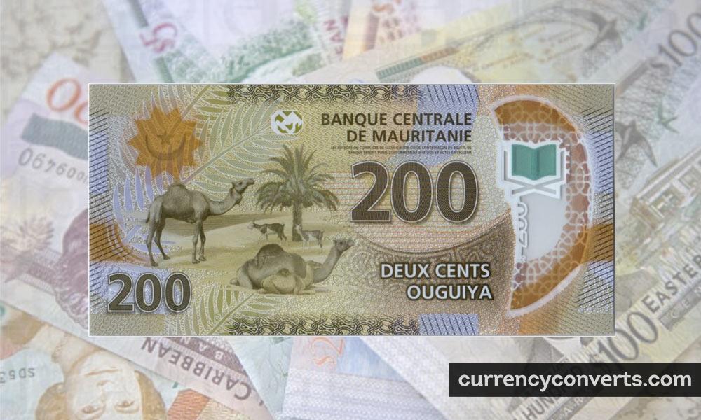 Mauritanian Ouguiya MRO currency banknote image