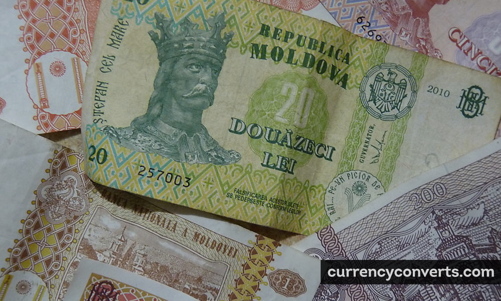 Moldovan Leu MDL currency banknote image