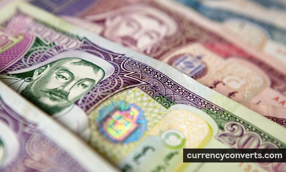 Mongolian Tögrög MNT currency banknote image