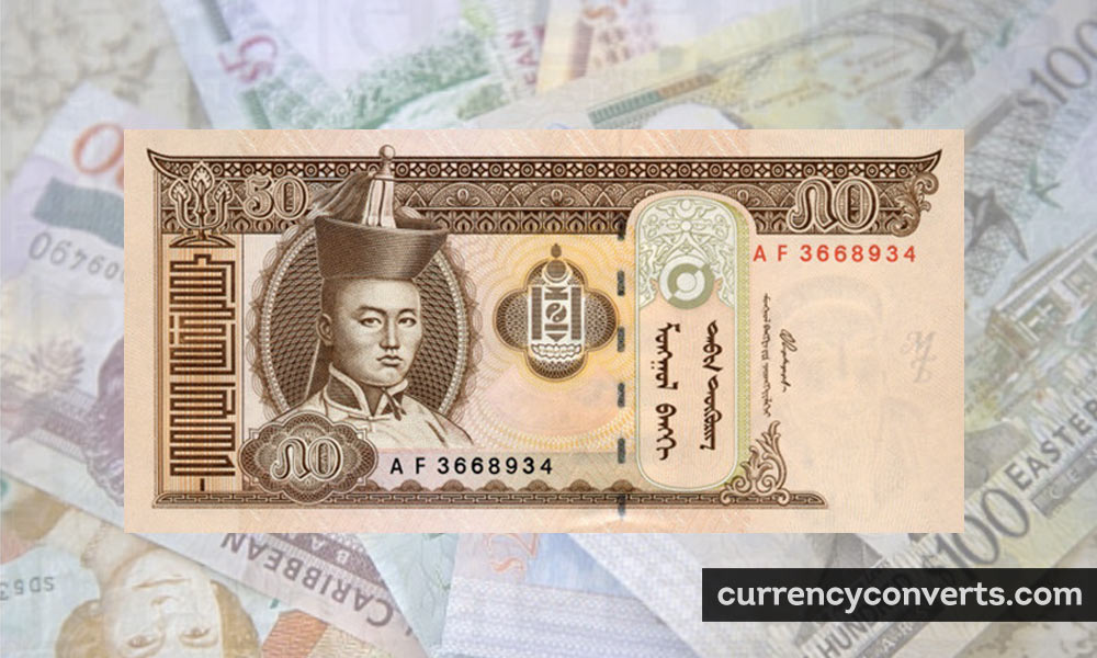 Mongolian Tugrik MNT currency banknote image