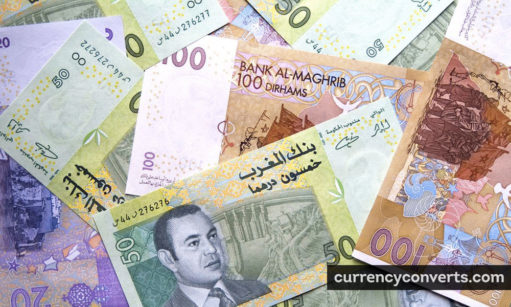 Moroccan Dirham MAD currency banknote image