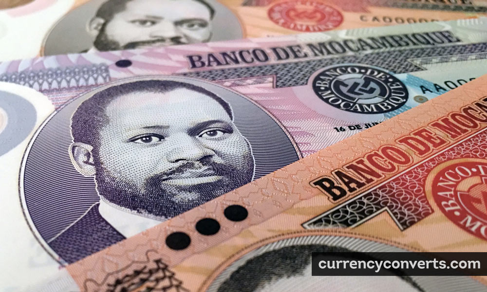 Mozambican Metical MZN currency banknote image