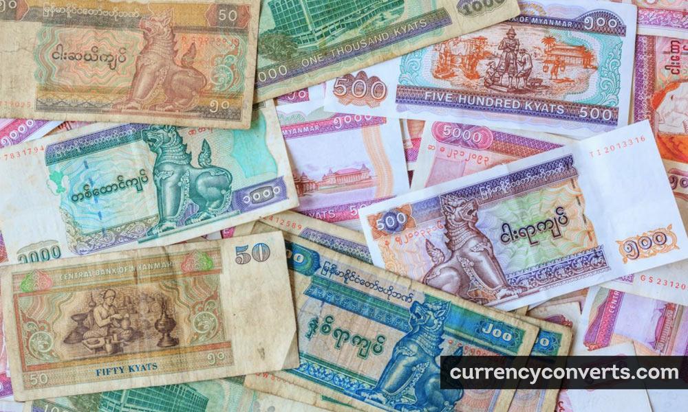 Myanma Kyat MMK currency banknote image