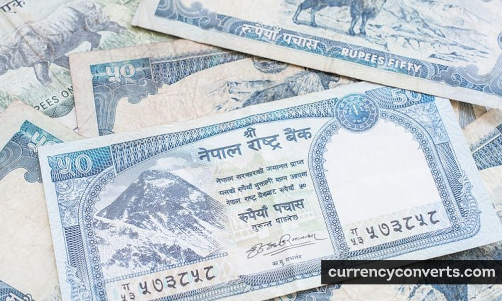 Nepalese Rupee NPR currency banknote image