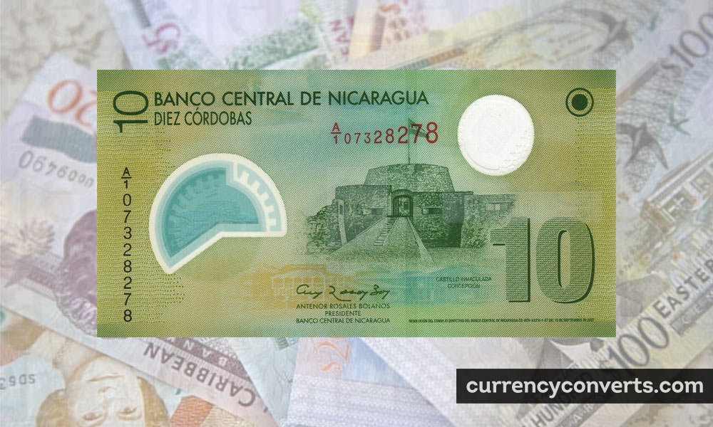 Nicaraguan Córdoba NIO currency banknote image