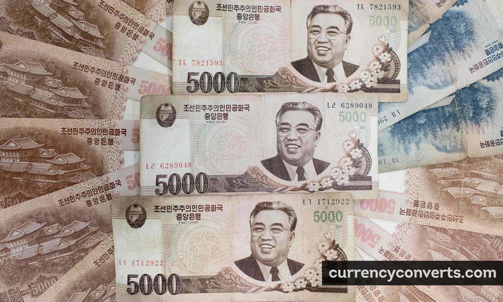 North Korean Won KPW currency banknote image