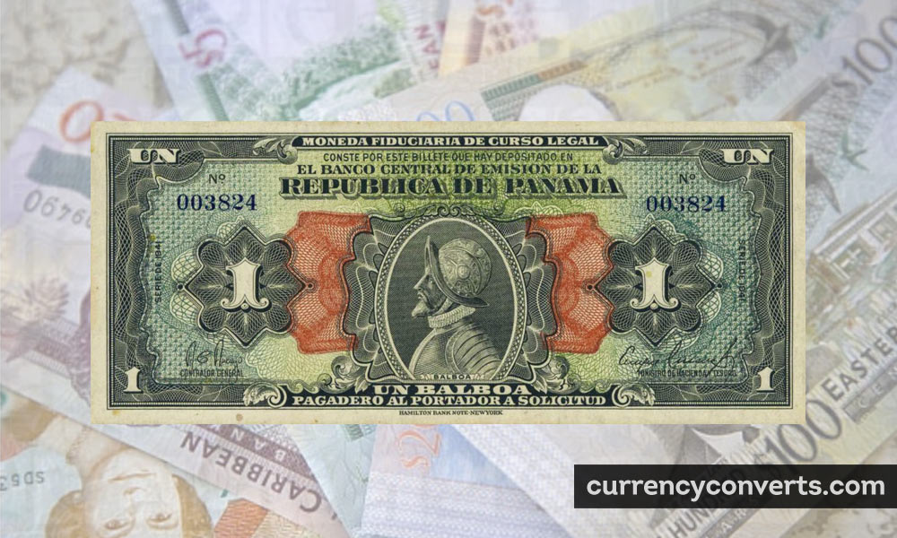 Panamanian Balboa PAB currency banknote image