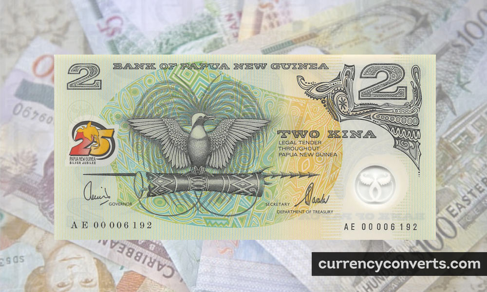 Papua New Guinean Kina PGK currency banknote image