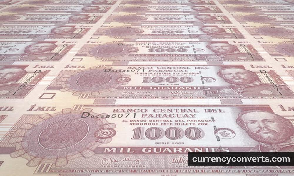 Paraguayan Guarani PYG currency banknote image