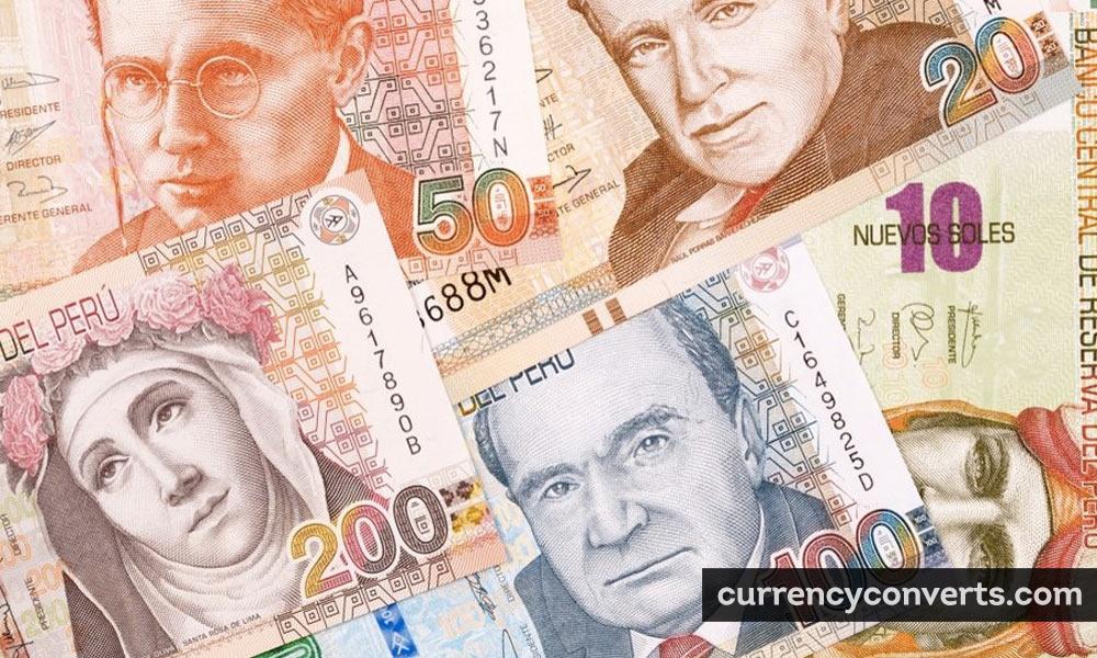 Peruvian Nuevo Sol PEN currency banknote image