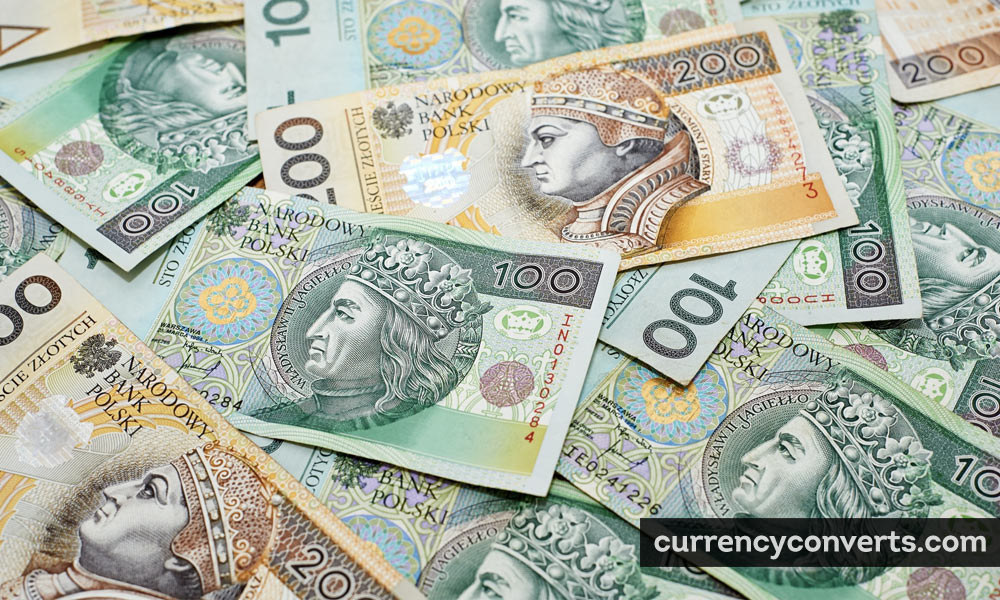Polish Zloty PLN currency banknote image
