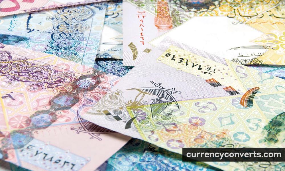 Qatari Rial QAR currency banknote image