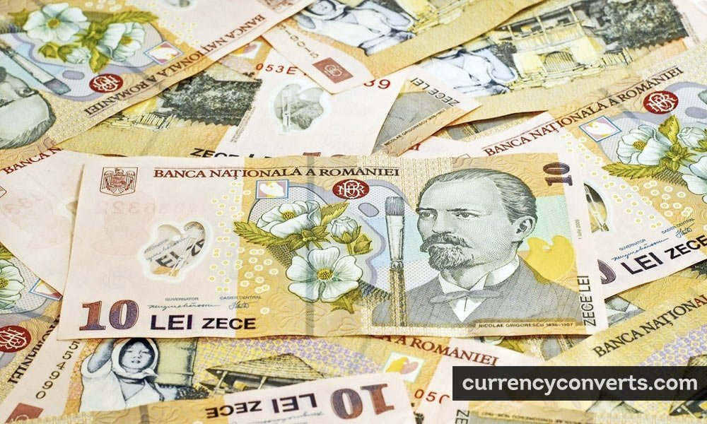 Romanian Leu RON currency banknote image