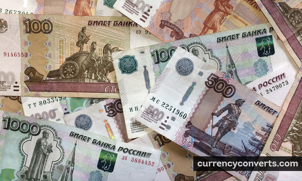 Russian Ruble RUB currency banknote image