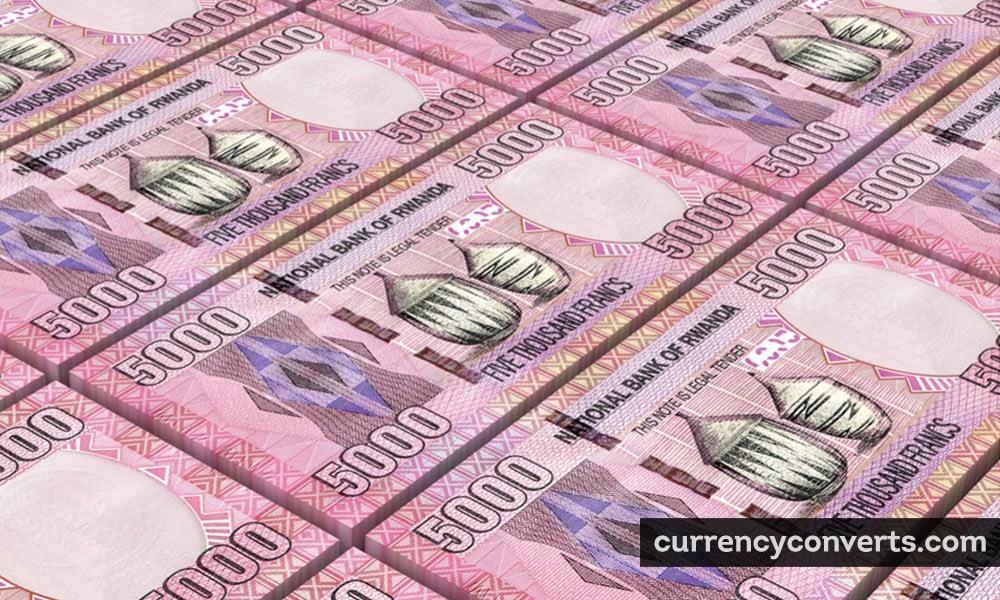 Rwandan franc - RWF money image