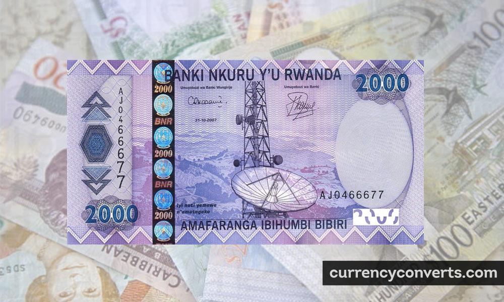 Rwandan Franc RWF currency banknote image