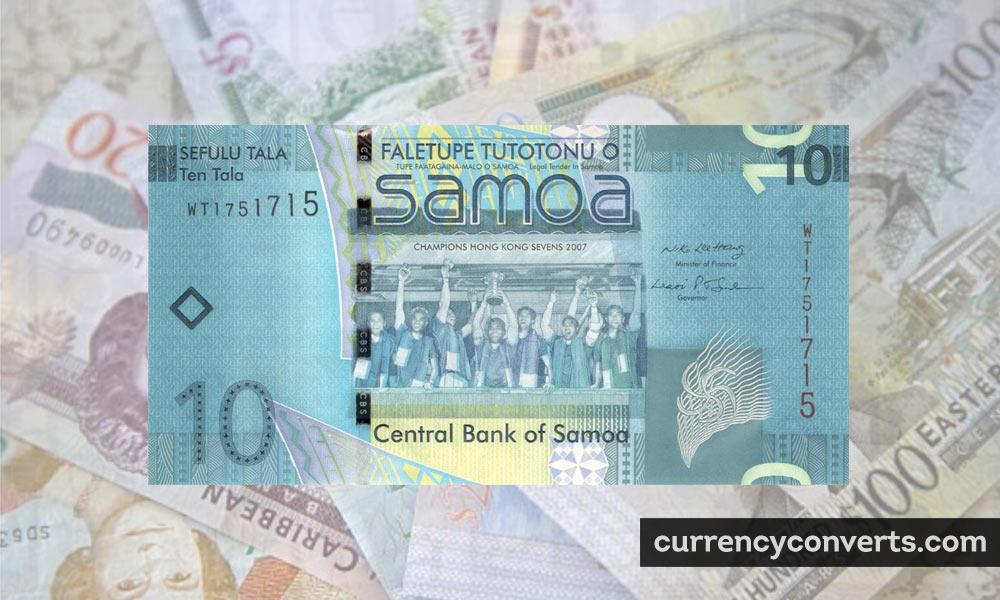 Samoan Tālā WST currency banknote image