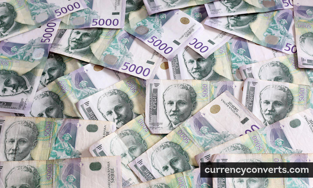 Serbian Dinar RSD currency banknote image