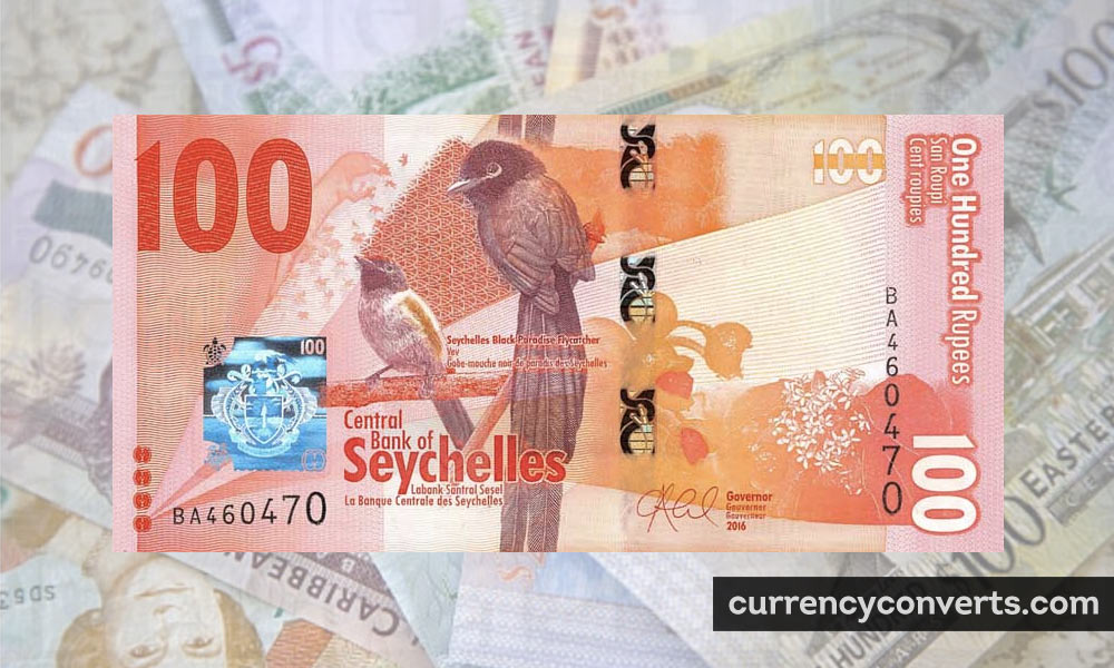 Seychellois Rupee SCR currency banknote image