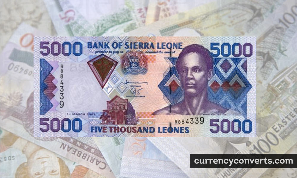 Sierra Leonean Leone SLL currency banknote image