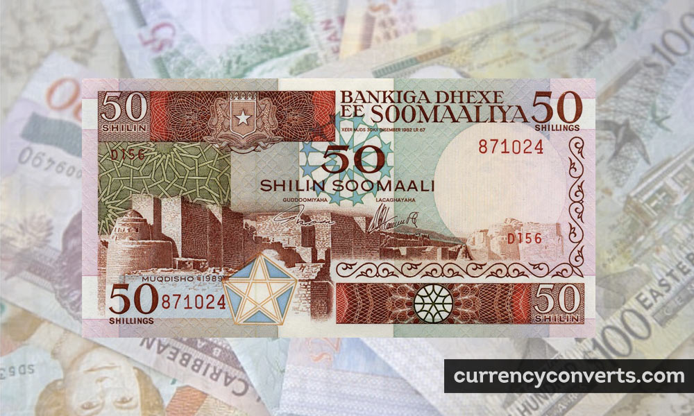 Somali Shilling SOS currency banknote image