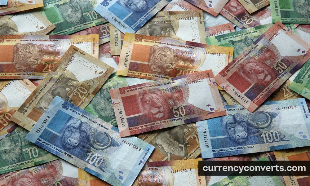 South African Rand ZAR currency banknote image