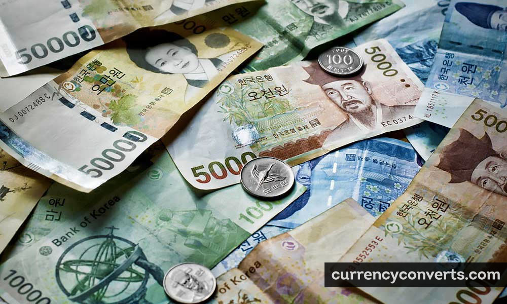 South Korean Won KRW currency banknote image