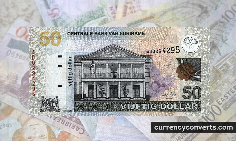Surinamese Dollar SRD currency banknote image