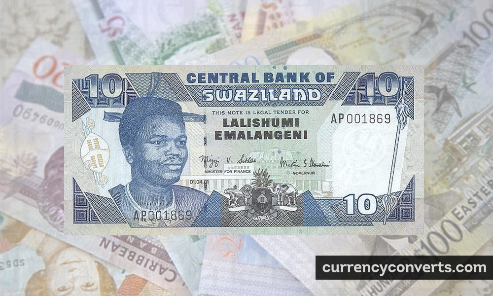 Swazi Lilangeni SZL currency banknote image
