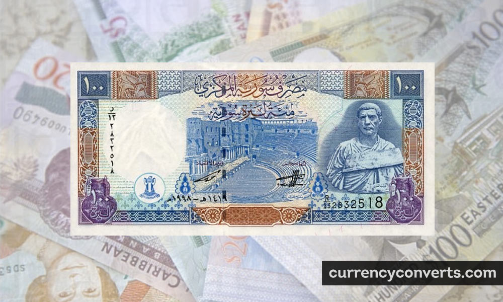Syrian Pound SYP currency banknote image