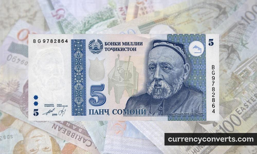 Tajikistani somoni - TJS money image