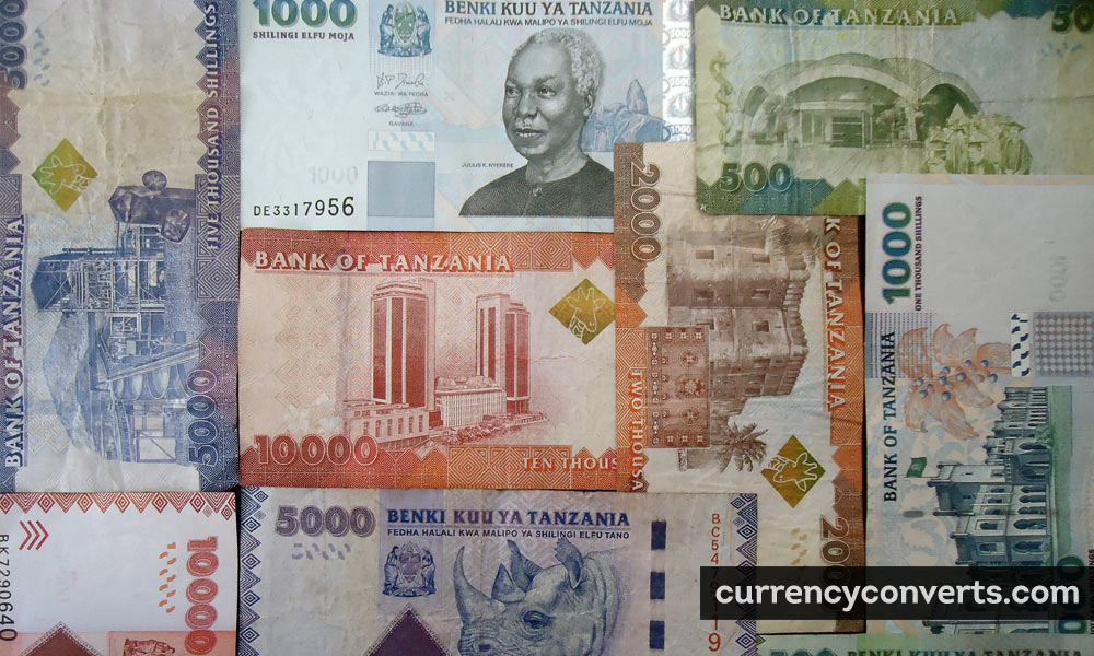 Tanzanian Shilling TZS currency banknote image