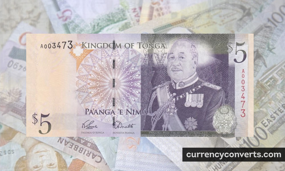 Tongan Paʻanga TOP currency banknote image
