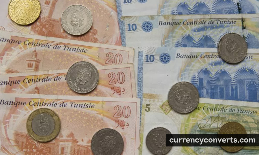 Tunisian Dinar TND currency banknote image