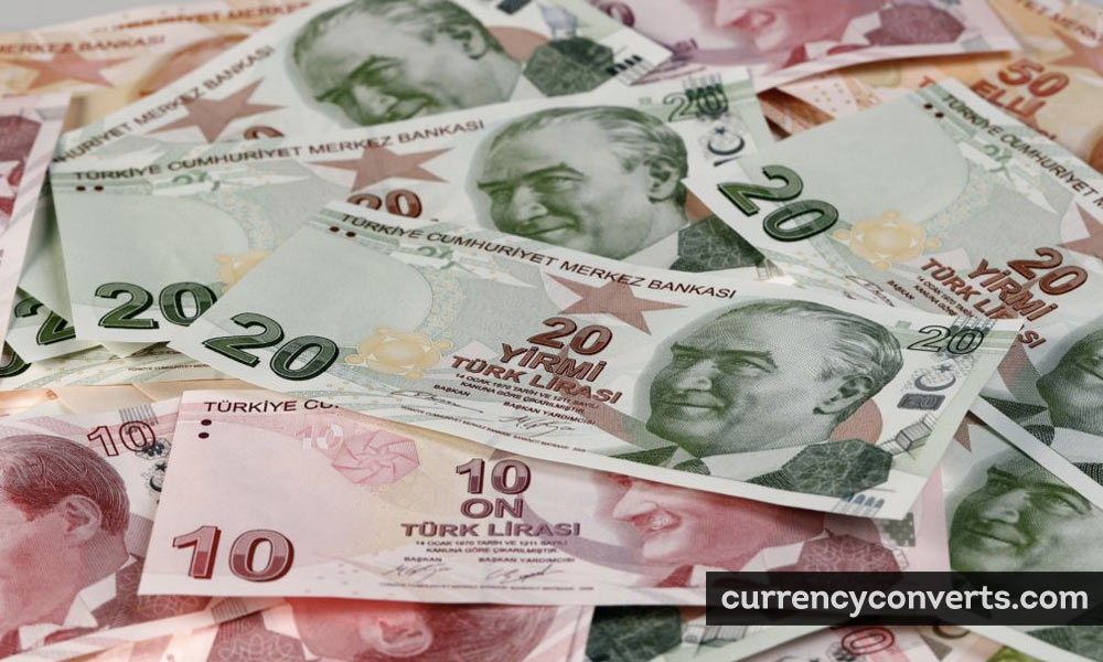 Turkish Lira TRY currency banknote image
