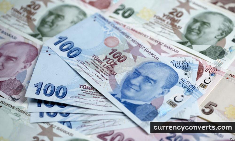 Turkish new lira - TRY money image