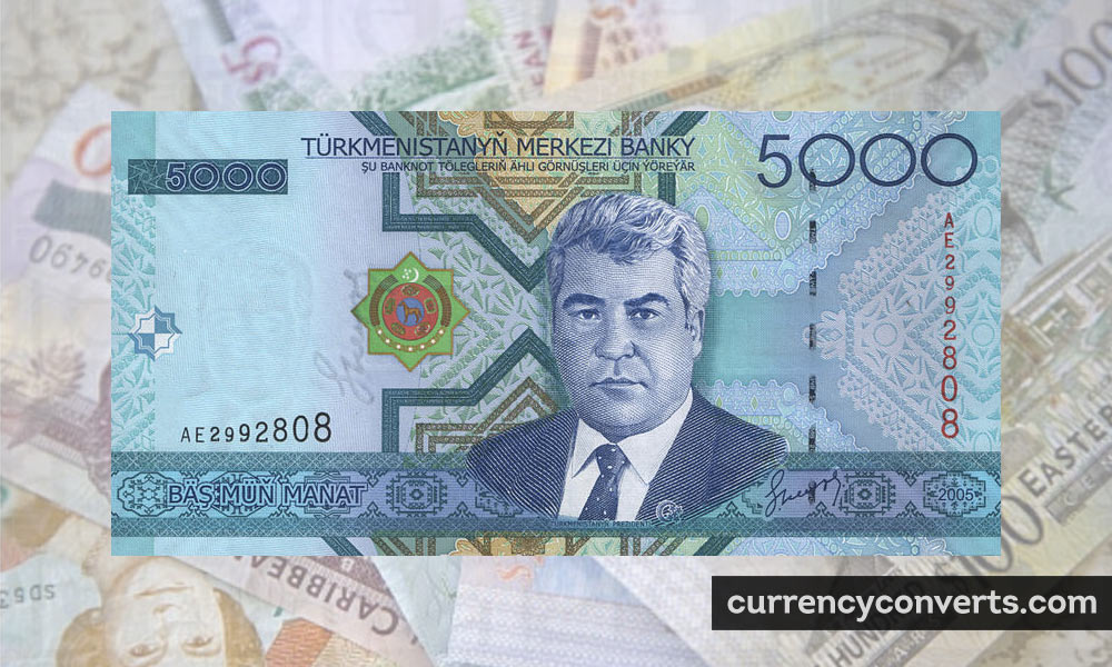 Turkmenistan Manat TMT currency banknote image