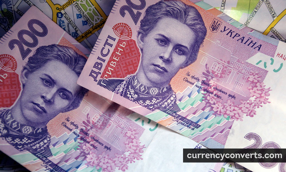 Ukrainian Hryvnia UAH currency banknote image