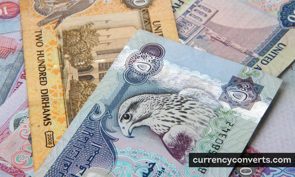 United Arab Emirates Dirham AED currency banknote image