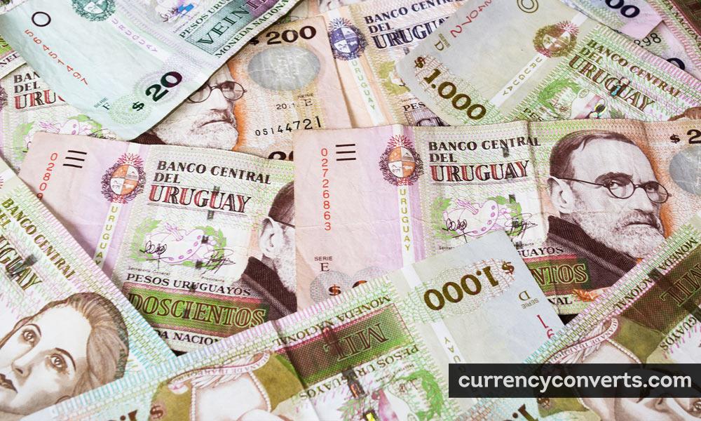 Uruguayan Peso UYU currency banknote image