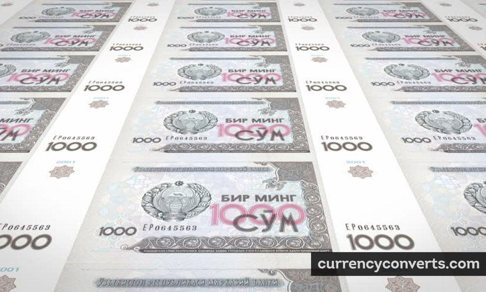 Uzbekistan Som UZS currency banknote image